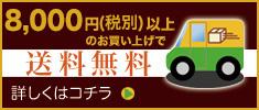5,000円(税別)以上のお買い上げで送料無料